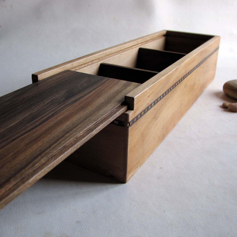 деревянные ящики с выдвижной крышкой